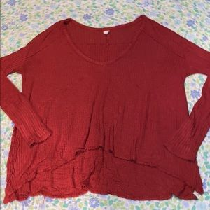 Free People Waffle Knit Thermal Long Sleeve